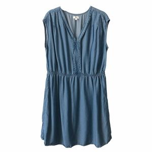 Thyme Maternity Denim Tunic Dress medium